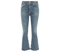 High-Rise Cropped Jeans Demy