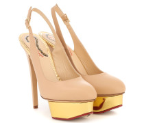 Slingback-Pumps Dolly aus Glattleder