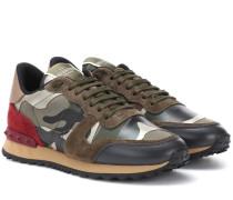 Garavani Sneakers Camouflage aus Veloursleder
