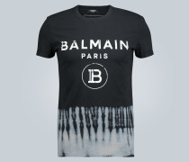 T-Shirt mit Batik-Saum