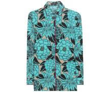Bedrucktes Hemd aus Seide