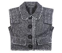 Tweed-Top aus einem Woll-Seidengemisch
