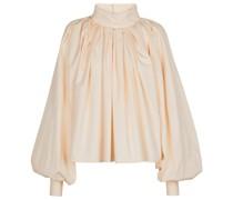 Plissierte Bluse aus Baumwolle
