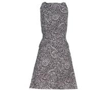 Print-Kleid aus Baumwolle und Seide