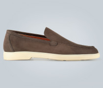 Loafers aus Nubukleder