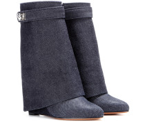 Wedge-Stiefelette Tria aus Denim