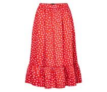 Midirock The Ruffle Skirt aus Twill