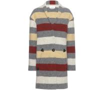 Gestreifter Mantel Gabrie aus einem Wollgemisch