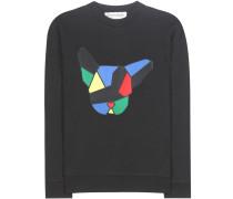 Bedrucktes Sweatshirt Dog Badge aus Baumwolle