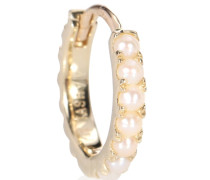 Ohrring Natural Akoya Pearl Cabochon Eternity Ring aus 14kt Gold