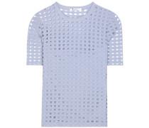 Perforiertes T-Shirt aus Jersey