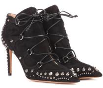 Garavani Ankle Boots Pebbles aus Veloursleder
