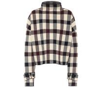 Karierter Pullover aus Jacquard
