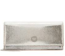 Clutch Fie aus Metallic-Leder