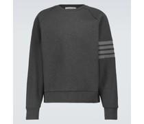 Sweatshirt 4-Bar aus Baumwoll-Jersey