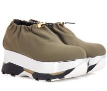 Plateau-Sneakers aus Neopren