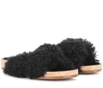 Sandalen mit Shearling
