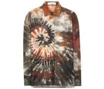 Bluse aus Baumwolle mit Batikprint