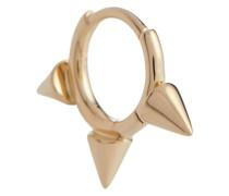 Einzelner Ohrring Triple Spike Clicker aus 14kt Gelbgold