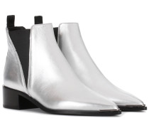 Ankle Boots Jensen aus Metallic-Leder