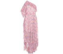 Asymmetrisches Kleid mit Volants