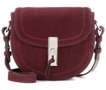Crossbody-Tasche Ghianda Saddle Mini aus Veloursleder
