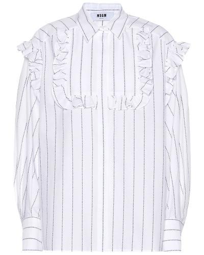 Bluse aus Baumwolle mit Rüschen