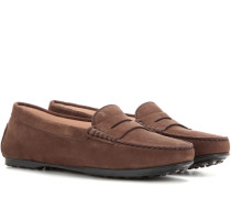 Loafers City Gommino aus Veloursleder