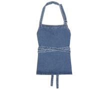 Wickeltop aus Denim