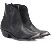 Ankle Boots Young aus Leder