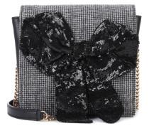 Exklusiv bei mytheresa.com – Verzierte Tasche mit Leder und Pailletten