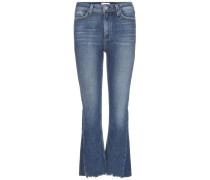 Flared-Jeans Pieced Colette Crop