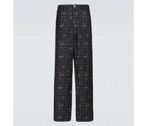 Karierte Hose aus Baumwolle