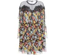 Kleid aus Seiden-Georgette mit Organza