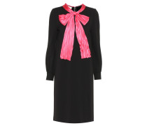 Verziertes Kleid aus Stretch-Crêpe