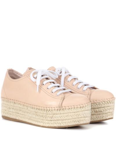 Espadrilles-Sneakers aus Leder