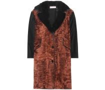Mantel aus einem Woll-Pelzgemisch