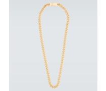 Vergoldete Halskette Rounded Curb