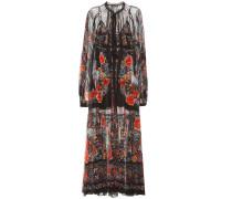 Bedrucktes Kleid aus Baumwollchiffon