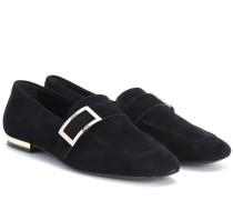Exklusiv bei mytheresa.com – Loafers Metal Buckle aus Veloursleder