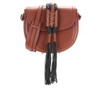 Schultertasche Ghianda Knot Saddle aus Leder