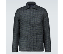 Wattierte Jacke aus Wolle
