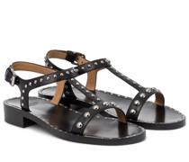Verzierte Sandalen Elly Met aus Leder