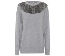 Pullover aus Wolle und Cashmere mit Metallic-Fäden