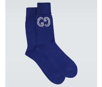 Socken aus Baumwolle mit GG-Motiv