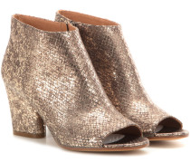 Open-Toe-Booties aus Leder