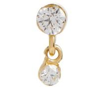 Ohrring Invisible aus 14kt Gelbgold mit Diamanten