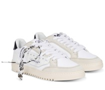 Sneakers 5.0 mit Velourslederbesatz