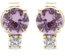Ohrringe aus 18kt Gelbgold mit Saphiren und weißen Diamanten