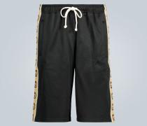 Shorts mit Logo-Borten